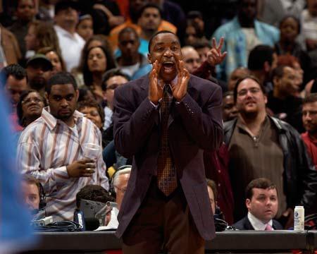 图文:[NBA]尼克斯胜奇才 托马斯大胜呼喊