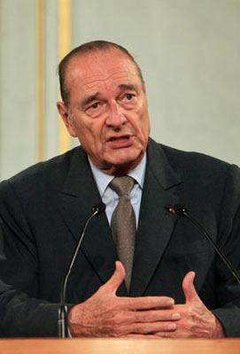 法国总统希拉克发表电视讲话 宣布不再竞选连任