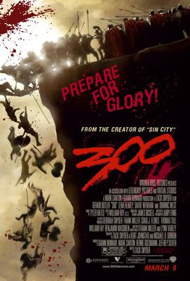 战争片《斯巴达300勇士》大步登北美票房冠军