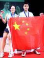 图文:全英公开赛郑波/高崚混双折桂 庆祝夺冠