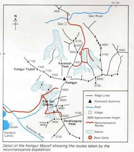 公格尔山线路图