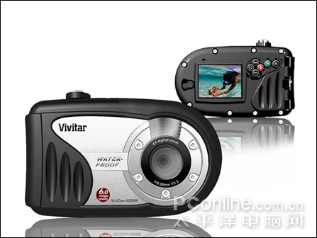 ViviCam 6200W可在水下10米拍摄