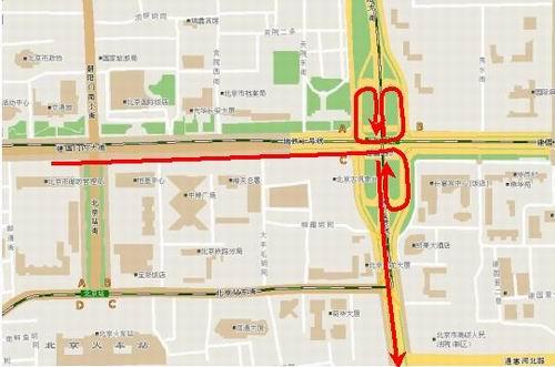 建内大街去往东南二环 三条路线可选