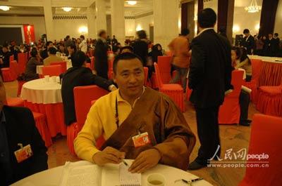 仲巴活佛:2008年要来北京观看奥运会比赛(图)