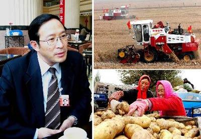 图文:代表谈粮食安全和农民增收