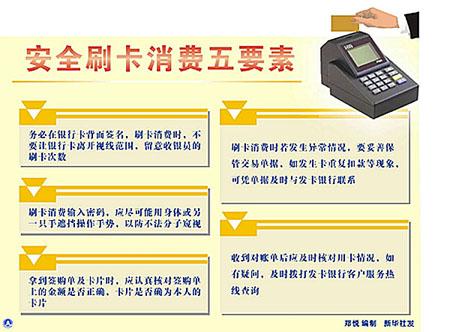 安全刷卡消费五要素