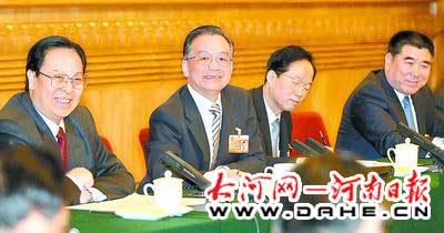温家宝参加河南代表团审议