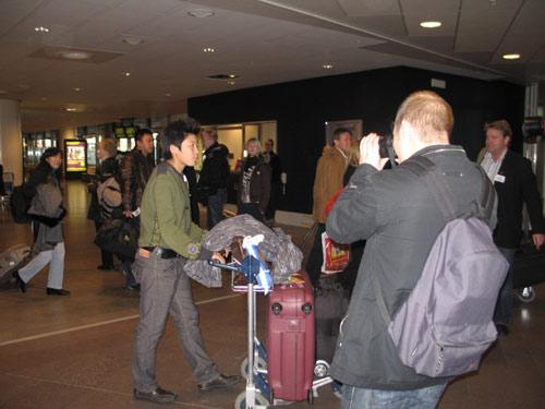 图文:马晓旭于默奥首训 马晓旭抵达机场