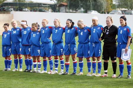图文:[阿杯]女足1-4冰岛 冰岛队首发阵容