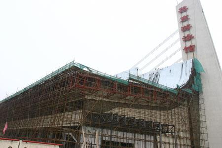 图文:现代五项联盟考察场馆 英东游泳馆正扩建