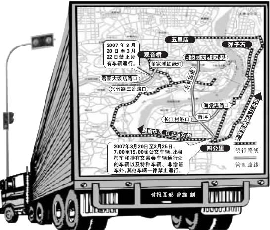20至25日 3大桥交通管制
