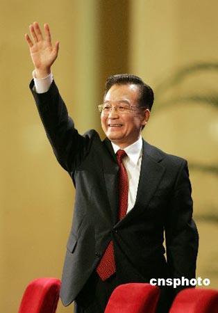 温家宝:中国经济平稳较快发展 但非评功摆好时候(图)