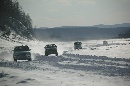 图文:2007漠河冰雪汽车拉力赛 比赛中的争夺