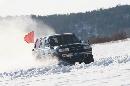 图文:2007漠河冰雪汽车拉力赛 旗帜随风飘扬