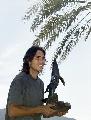 图文:纳达尔捧杯游加州海滩 游棕榈海滩