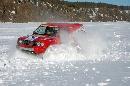 图文:07漠河冰雪汽车拉力赛 雪中前行