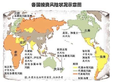 国家风险地图绘制完毕