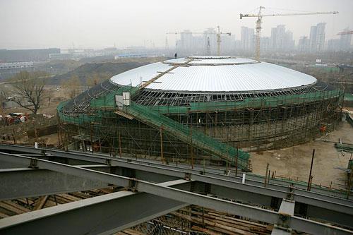 搜狐体育讯 北京工业大学体育馆是2008年北京奥运会羽毛球和艺术体图片