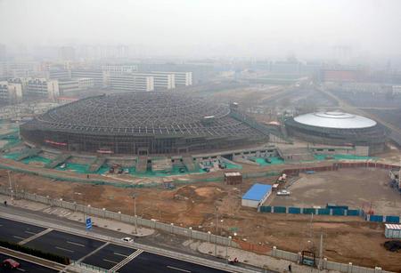 图文:奥运场馆巡礼 北工大体育馆建设进展顺利