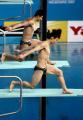 图文:游泳世锦赛 王峰/秦凯为中国队夺得首金