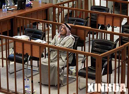 拉马丹在伊拉克特别法庭接受审判,如果难逃绞刑,他将成为萨达姆政权中被绞死第四人。资料图