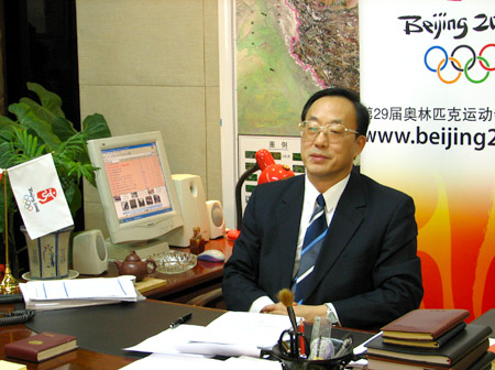 北京奥组委执行副主席刘敬民成为奥运官方网站荣誉网友