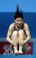 图文:女子一米板决赛 跳板小将实力强劲