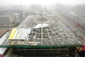 俯瞰奥运场馆―――北京大学体育馆大跨度钢结构屋盖