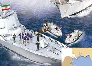 伊朗炮艇包围两艘英军小艇,15名英军士兵被扣押