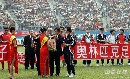 图文:[国足]中国VS澳大利亚 赛前献爱心捐款