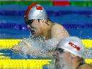 图文:男子100米蛙泳预赛 王海波处于落后