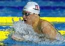 图文:男子100米蛙泳预赛 汉森显示良好状态