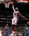 图文:[NBA]快船胜奇才 布兰德单手爆扣