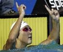 图文:男子400米自由泳决赛 朴泰桓创造历史