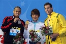 图文:男子400米自由泳 前3名选手合影留念