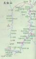 太白山北坡旅游线路图