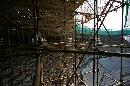 图文:奥林匹克公园网球场 脚手架结构