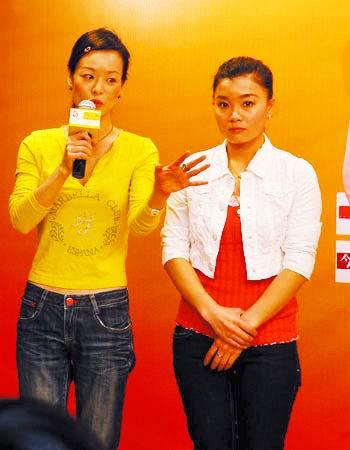 莫慧兰、杨波在签约仪式上致辞