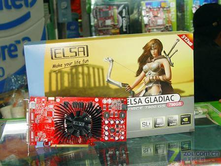 图为:艾尔莎 7900GS 512MB显卡