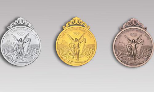 图文:北京奥运奖牌设计公布 奖牌正面无挂带