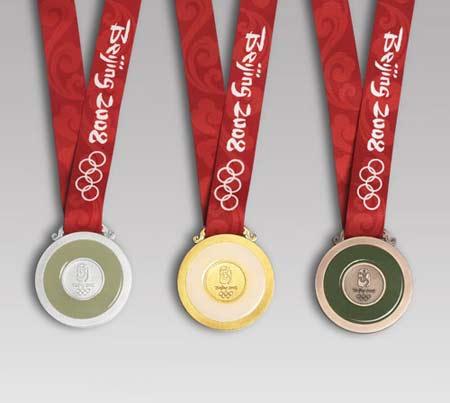第29届奥林匹克运动会奖牌背面及授带