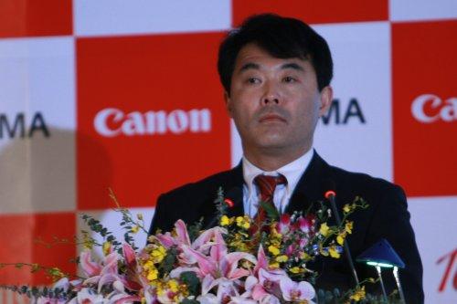 佳能中国信息消费产品部总经理内山武彦先生致辞