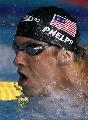 图文:男子200米蝶泳半决赛 菲尔普斯连续作战