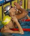图文:女子200米自半决赛 佩里格里尼祈祷胜利