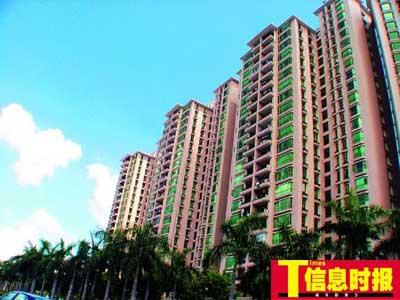 """广州商品房价格不断上涨,让许多购房者""""望房兴叹""""。黄亦民 摄"""