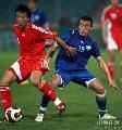 图文:[热身赛]中国3-1乌兹别克 毛剑卿势如闪电