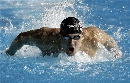 图文:男子200米蝶泳决赛 池中蛟龙菲尔普斯