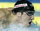 图文:男子200米蝶泳决赛 菲尔普斯一马当先