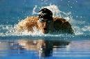 图文:男子200米蝶泳决赛 菲尔普斯成绩惊人