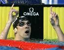 图文:男子200米蝶泳决赛 菲尔普斯极具王者之风